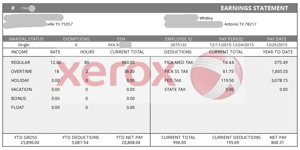 Sample Pay Stub With Company Logo  Paystub Templates