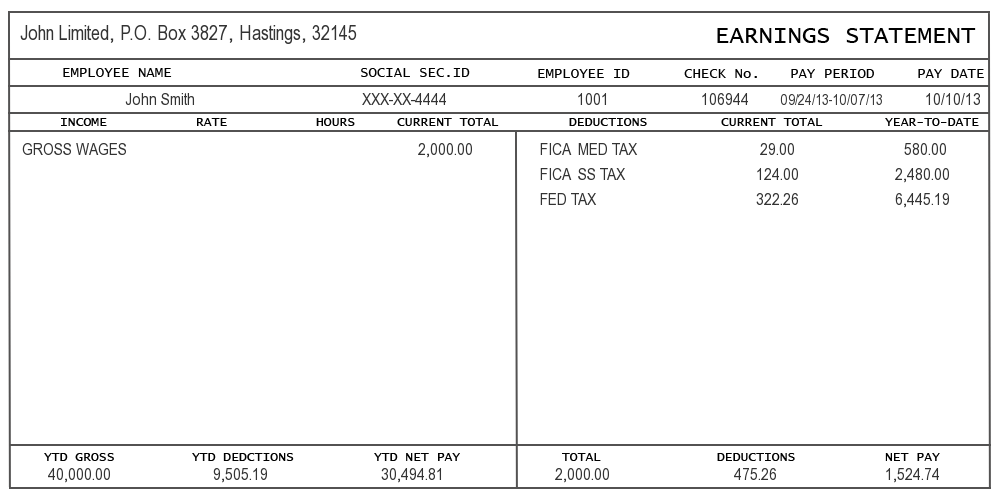Sample of pay stub information instant pay stub for Paycheck stub template in microsoft word