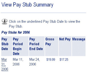 Online Paycheck Stubs